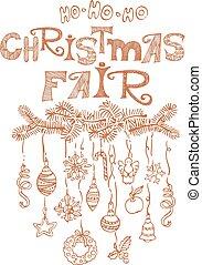 Feria de Navidad, anuncio de mercado