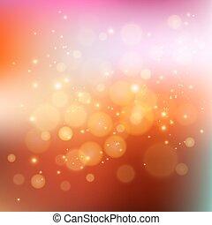 feriado, bokeh, plano de fondo, resumen, luz