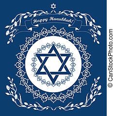 feriado, magen, hanukkah, plano de fondo, david, estrella, judío