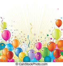 feriado, plano de fondo, celebración