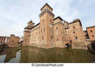Ferrara (Emilia-Romagna, Italia) - el castillo medieval