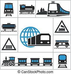 Ferrocarril. Pon iconos