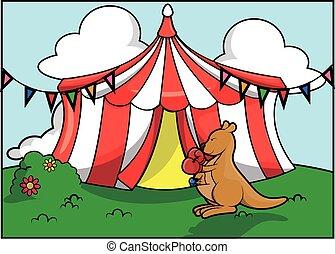 Festival de atracción del circo Kanggoro