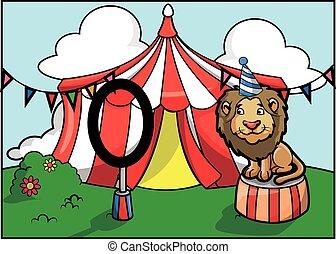 Festival de atracción del circo Lion