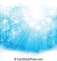 Festive resplandeciente fondo azul claro (eps10)
