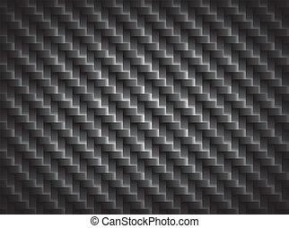 fibra, eps10, fibras, límite, crosswise, plano de fondo, carbón, textura