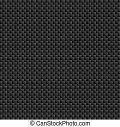 fibra, hoja, patrón, carbón, tileable, teja
