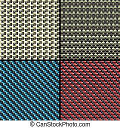 Fibras de carbono, kevlar y patrones decorativos