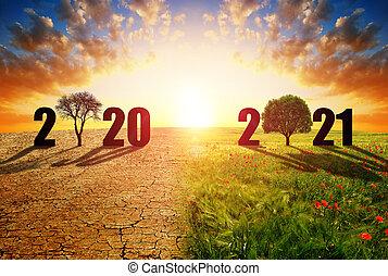 field., tierra, país, número, verde, 2020, agrietado, 2021, seco