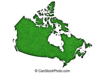 fieltro, mapa verde, canadá
