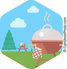 Fiesta de barbacoa BBQ.