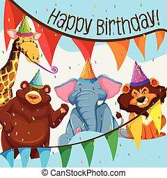 Fiesta de cumpleaños de animales salvajes