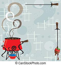 Fiesta de fondue de chocolate