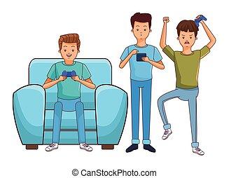 Fiesta de juegos de Millennial