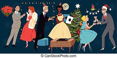Fiesta de Navidad Retro