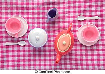 Fiesta de té plano