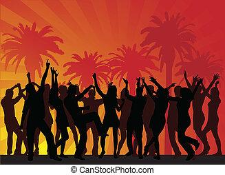 Fiesta de vacaciones en la playa... vector