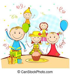 fiesta, el gozar, niños