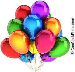 fiesta, globos, coloreado, arco irirs