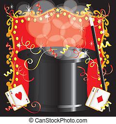fiesta, magician's, magia, cumpleaños, acto