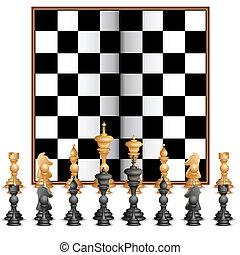 Figura de ajedrez con tabla