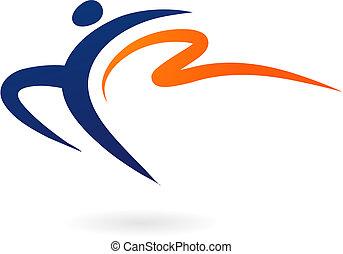 Figura de vector deportivo - gimnasia