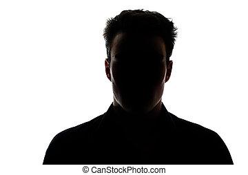 Figura masculina en silueta