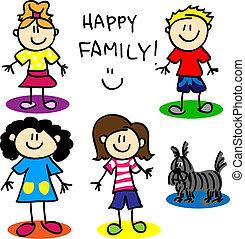 figura, palo, alegre, family-women