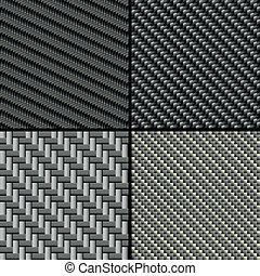 Figuras de fibra de carbono marcadas