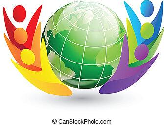 Figuras y logotipo del globo