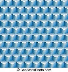 filas, cubos, resumen, óptico, plano de fondo, ilusión