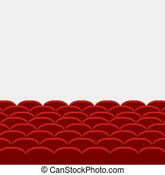 Filas de cine rojo