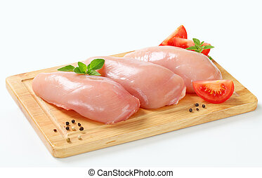 Filetes de pollo crudo