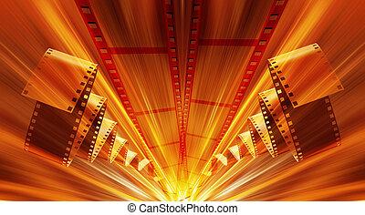 Film Strip abstracto