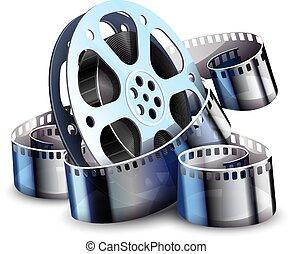 Film-strip para la producción de cine. Vector.