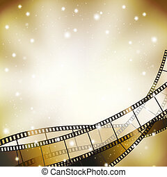 filmstrip, estrellas, retro, plano de fondo