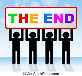 final, conclusión, fin, expiración, medios