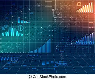 financiero, empresa / negocio, resumen, gráficos por computadora, statistics.
