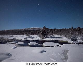 finlandia, huellas, nieve