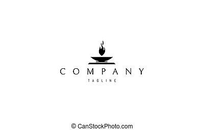 fire., imagen, vector, sagrado, resumen, logotipo