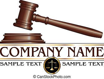 firma, ley, diseño, o, abogado