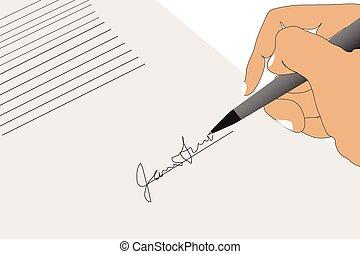 Firmando antecedentes