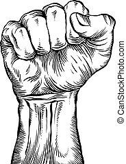 fist., apretado