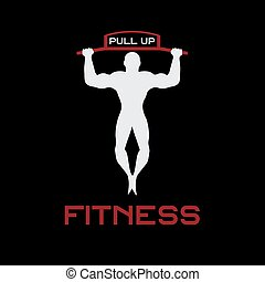 Fitness tire hacia arriba bandas ilustración vectorial