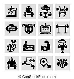 Fitness y íconos de salud