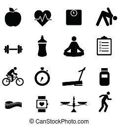 Fitness y iconos dietéticos