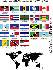 Flags de Centro y Norte América wi