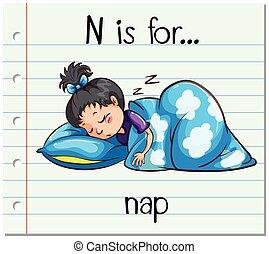 flashcard, siesta, carta n