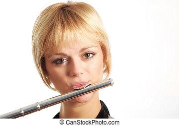 flautista, portait