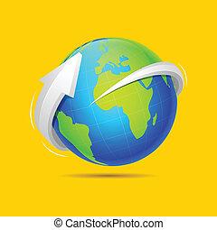 Flecha alrededor de la Tierra